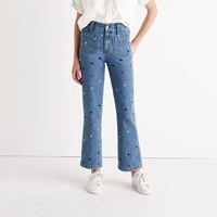Madewell Rivet And Thread Embroidered Star Jeans