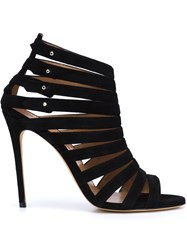 Alexa Wagner Caged High Heel Sandals Black
