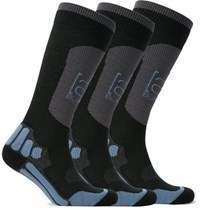 Burton Three Pack Ak Endurance Ribbed Knit Ski Socks Black