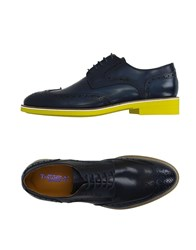 Thompson Footwear Lace Up Shoes Men Dark Blue