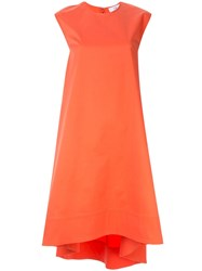 Ck Calvin Klein Twill Sleeveless Dress Orange
