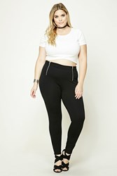Forever 21 Plus Size Zippered Pants Black