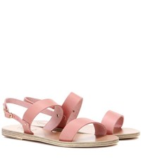 Ancient Greek Sandals Clio Metallic Leather Pink