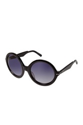 7 For All Mankind Women's Black Round Frame Sunglasses