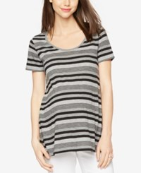 A Pea In The Pod Maternity Striped Tee White Navy