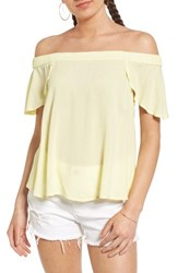 Women's Bp. Off The Shoulder Top Yellow Candle