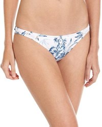Rhythm Hanalei Beach Swim Bottom White Pattern