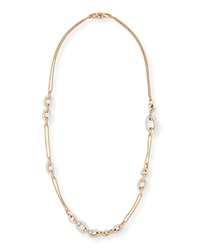 Tango 18K Rose Gold Diamond Chain Link Necklace Pomellato