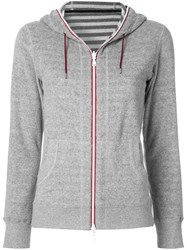 Loveless Zipped Fleece Hoodie Grey