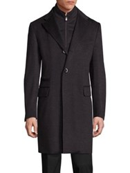 Corneliani Virgin Wool Textured Long Coat