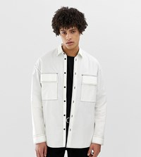 Noak Boxy Shirt With Two Pockets In White