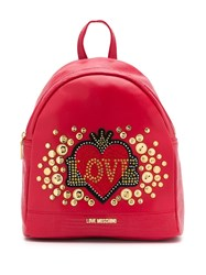 Love Moschino Heart Logo Backpack Red
