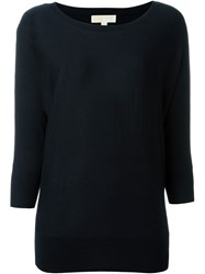 Michael Michael Kors Crew Neck Relaxed Fit Jumper Blue