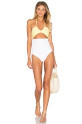 Ellejay X Revolve X Ludi Bondi Scoop One Piece Yellow