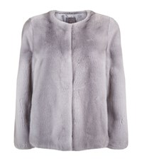 Lilly E Violetta Mink Coat Grey