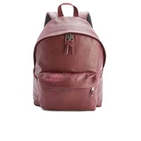 Eastpak Padded Pak'r Leather Backpack Oxblood