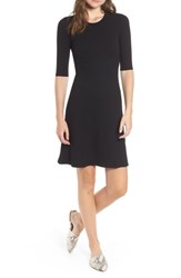 Amour Vert Marilyn Rib Fit And Flare Dress Black