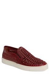 Frye Men's Gabe Slip On Burgundy Leather