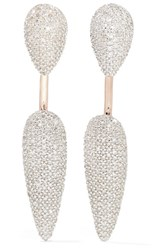 Monica Vinader Stellar Rose Gold Plated Diamond Earrings