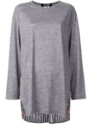 Junya Watanabe Pleated Back Top Grey