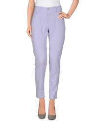 Closed Casual Pants Lilac