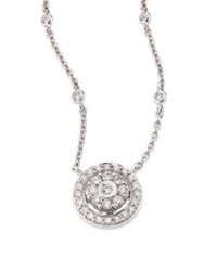 Hueb Flower Diamond And 18K White Gold Pendant Necklace