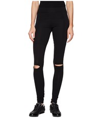 Yohji Yamamoto Cut Leggings Black Women's Casual Pants