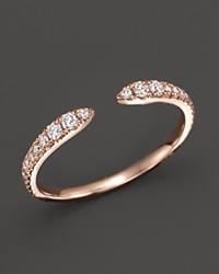 Bloomingdale's Diamond Open Band Ring In 14K Rose Gold .35 Ct. T.W. White Rose