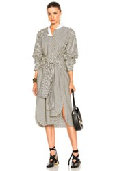 Loewe Striped Shirt Dress In Black Stripes White Black Stripes White