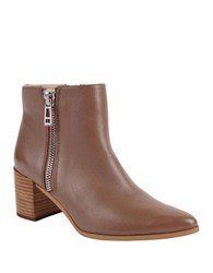 Charles By Charles David Uma Leather Ankle Boots Dark Taupe