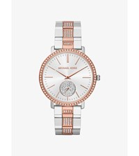Jaryn Pave Two Tone Watch Silver