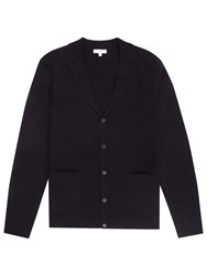 Reiss Knightly Blazer Cardigan Navy