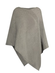 Tomas Maier V Neck Cashmere Poncho Light Grey