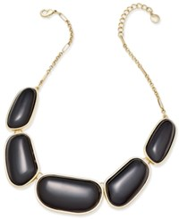 Charter Club Gold Tone Colored Stone Necklace Only At Macy's Black