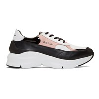 Paul Smith Black And Pink Explorer Sneakers