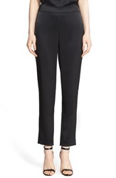 St. John Women's Collection 'Emma' Satin Ankle Pants