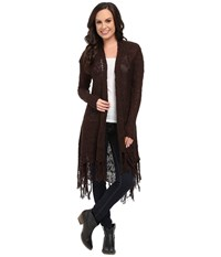 Ariat Fringe Cardigan Ganache Women's Sweater Black