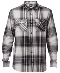 Fox Men's Haddams Flannel Plaid Shirt Light Grey