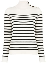 Nili Lotan Striped Mock Neck Jumper 60