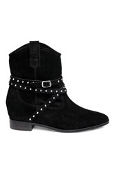 Handm Suede Ankle Boots Black