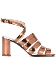 Paul Smith Ps By Strappy Block Heel Sandals Brown