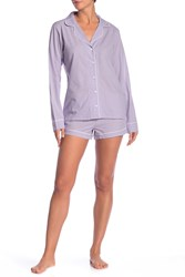 Ugg Cassandra Windowpane Check Pajama 2 Piece Set Lawc