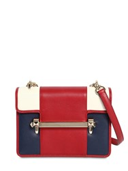 Valentino Garavani Uptown Leather Bag Red White Blue