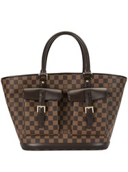Louis Vuitton 2003 Pre Owned Manosque Gm Tote Bag Brown