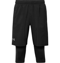 Under Armour Launch Slim Fit Sw 2 In 1 Running Shorts Black
