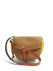 Loewe Gate Small Leather Cross Body Bag Green Multi