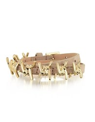Dsquared2 Babe Wire Nude Suede And Goldtone Armlet