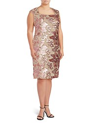 Isaac Mizrahi Sequin Embellished Dress Rose