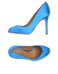 Ernesto Esposito Pumps With Open Toe Azure