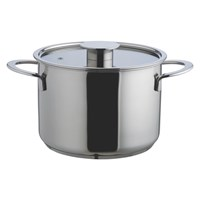 Habitat Gourmet Deep Casserole Pan With Lid D20cm Stainless Steel